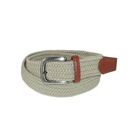 Cotton Elastic Waist Belt - Arnold Palmer Men's Tubular Elastic Braided Belt