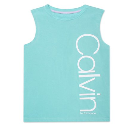Girl's Oversized Logo Cotton Tank Top Calvin Klein Ribbed Tank Top