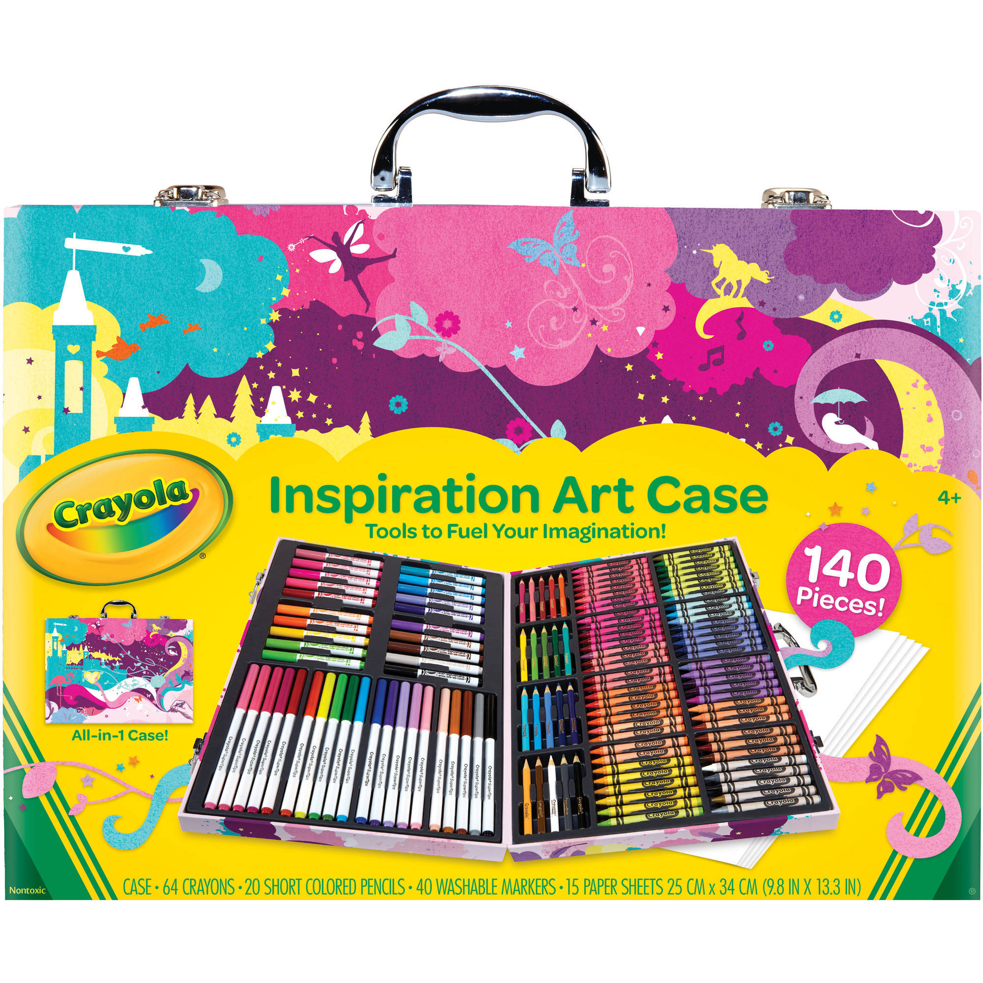 Crayola Inspiration Art Case, Pink, 140 Piece Art Kit, Gift