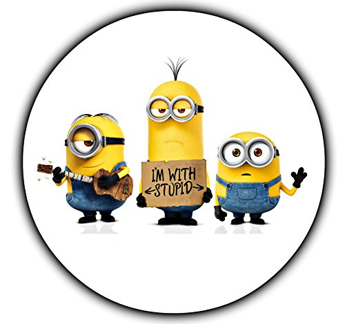 "Minions Round Despicable Me Edible Image Photo Cake Topper Sheet Personalized Custom Customized Birthday Party - 8"" Round - 74556"