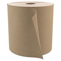 """Select Roll Paper Towels, 1-Ply, 7.9"""" x 800 ft, Natural, 6/Carton"""