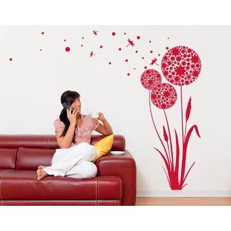 Dandelion Seeds Wall Decal floral wall decal sticker mural vinyl art h
