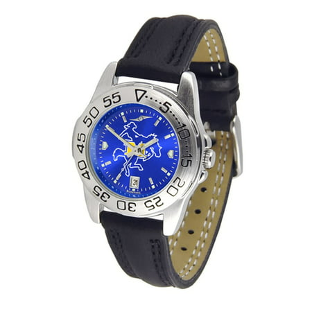 McNeese State Cowboys NCAA AnoChrome Sport Ladies Watch (Leather Band) ()