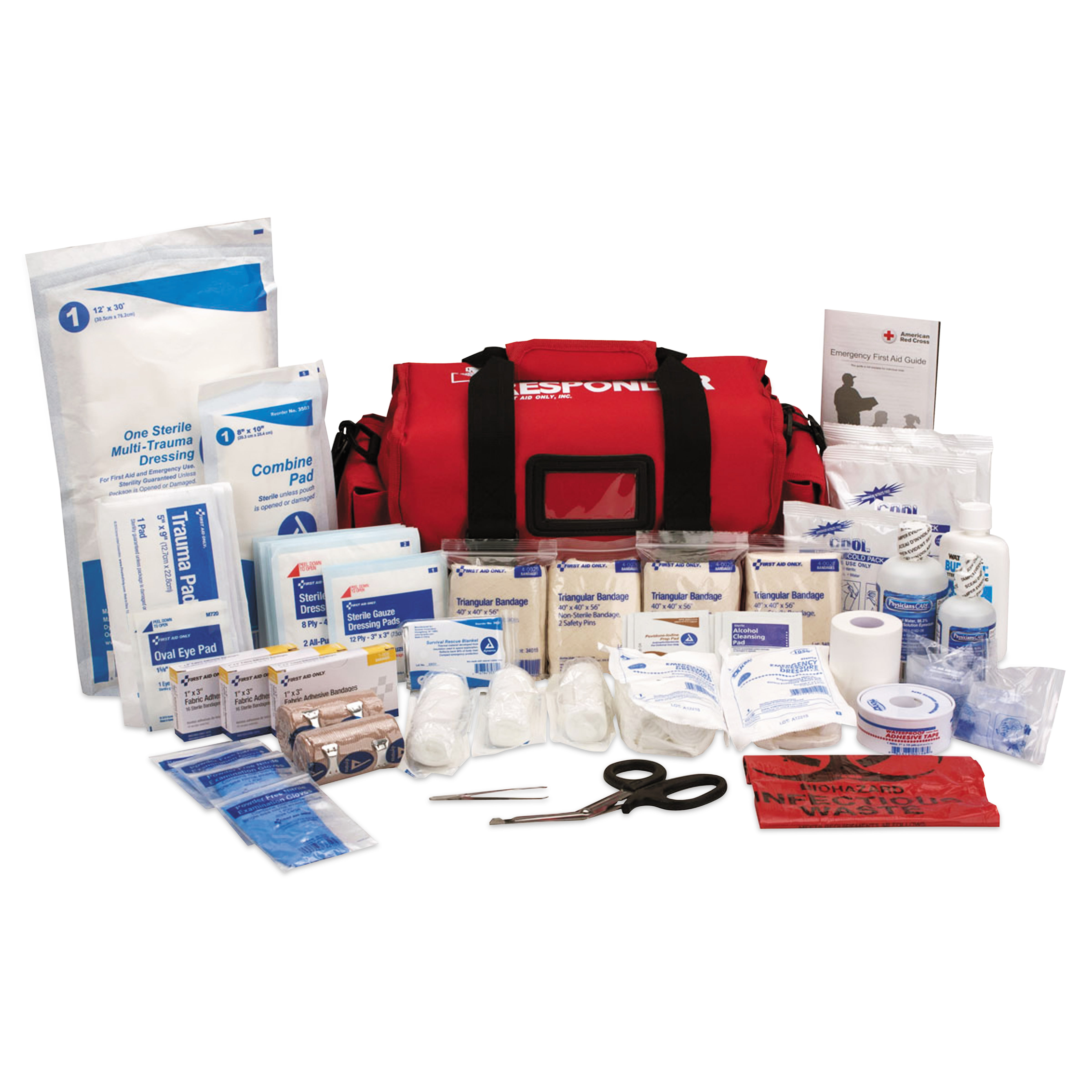 First Aid Only First Responder Kit, 158 Piece, 16