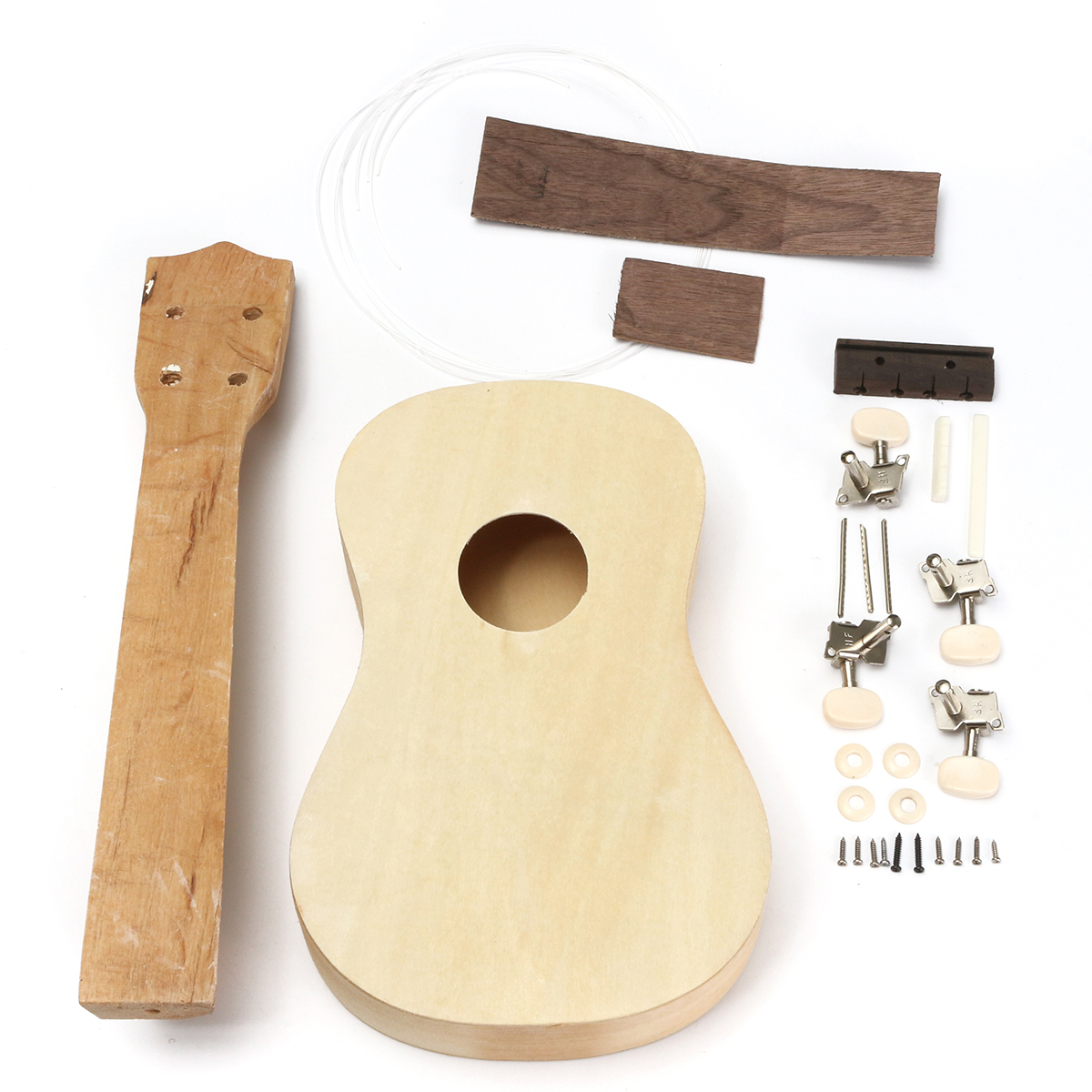 "21"" Hawaii Ukulele Soprano Wooden Musical Instrument Hawaiian Guitar Uke Kit Gift DIY by"