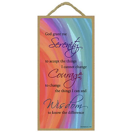 Colorful SERENITY PRAYER Primitive Wood Hanging Sign 5
