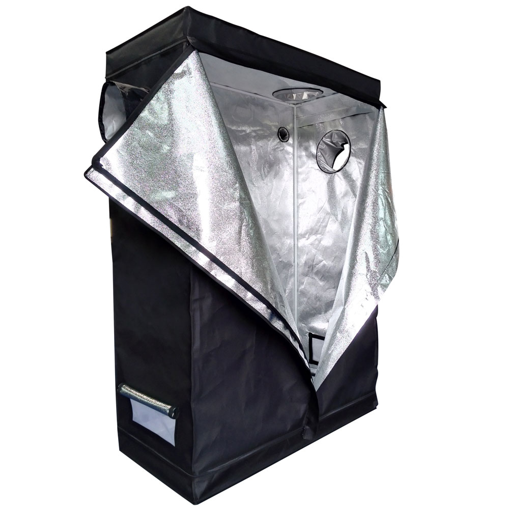 """Zimtown 48"""" x 24"""" x 72"""" Hydroponic Water-Resistant Grow Tent with Removable Floor Tray for Indoor Seedling Plant Growing"""