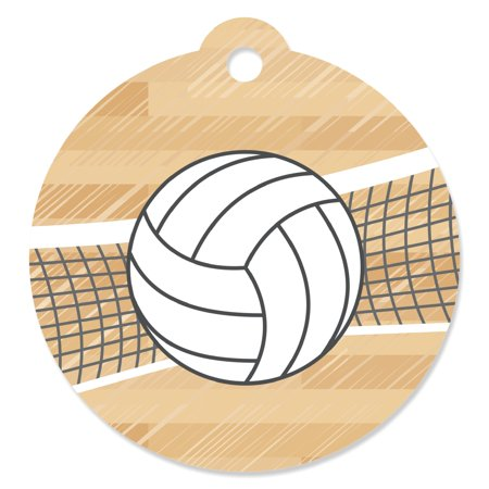 Bump, Set, Spike - Volleyball Baby Shower or Birthday Party Favor Gift Tags (Set of -
