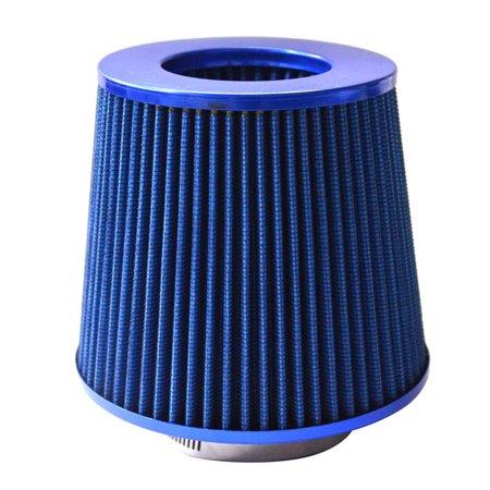 "Ktaxon 4"" Inch Chrome Inlet High Flow Short Ram/Cold Intake Round Cone Air Filter Blue"