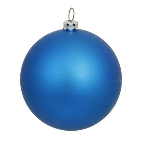 Matte Lavish Blue UV Resistant Commercial Shatterproof Christmas Ball Ornament 4 (100mm)