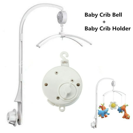 Baby Crib Bell Musical Mobile Plays Tunes Wind-up Music Box+ baby bed bell arm Baby Crib Mobile Bed Bell Holder Arm Bracket 26