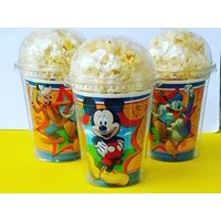 Set of 8 - Mickey Mouse Party Cups, Popcorn Cups, Goody Bags, Favor Boxes by