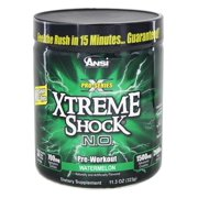 ANSI (Advanced Nutrient Science) Xtreme Shock N.O. Pro Series Pre-Workout Powder, Watermelon, 34 Servings
