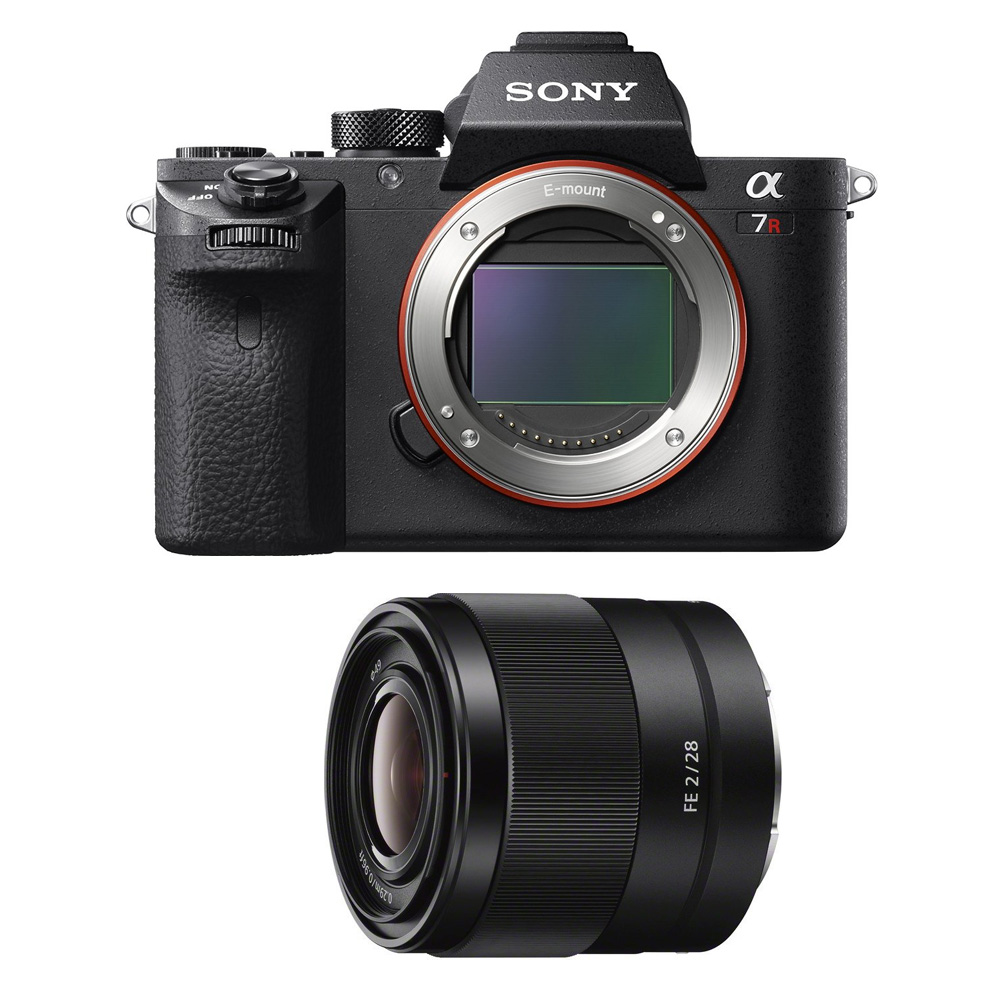 Sony a7R II Mirrorless Interchangeable Lens Camera Body with 28mm Lens Bundle - Includes Camera and FE 28mm F2 E-Mount Full-Frame Prime Lens