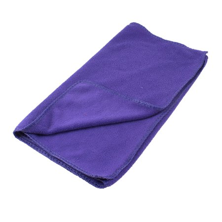 Purple Rectangular Microfiber Water Absorbent Pet Dog Puppy Drying