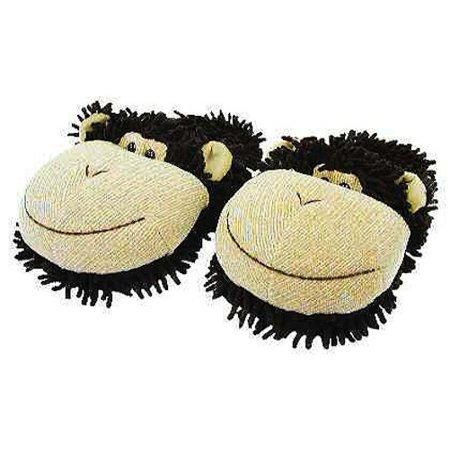 Image of Aroma Home - Fuzzy Friends - Kids Slippers - Monkey