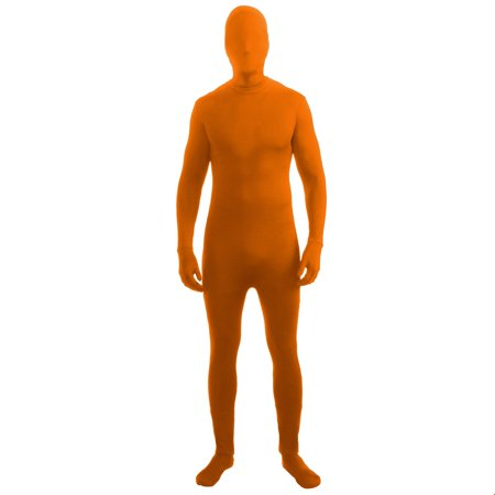 Adult Skinsuit Orange Halloween Costume - Hi Halloween