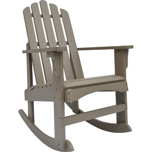 Breakwater Bay Janes Solid Wood Rocking Adirondack Chair