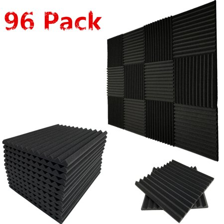 Goldwing Audio (96 Pack Acoustic Wedge Studio Foam Soundproofing Foam Wall Panels Tiles)