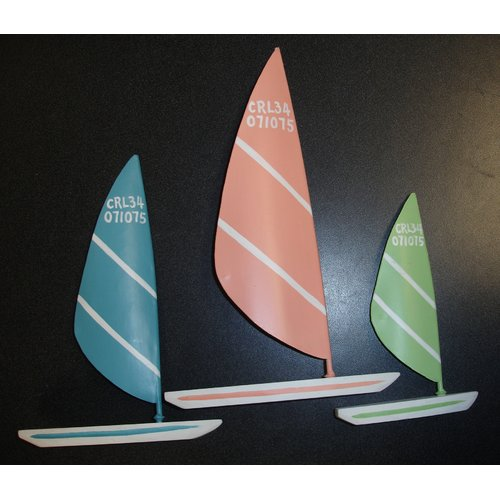 Judith Edwards Designs Sailboard Figurine (Set of 3)