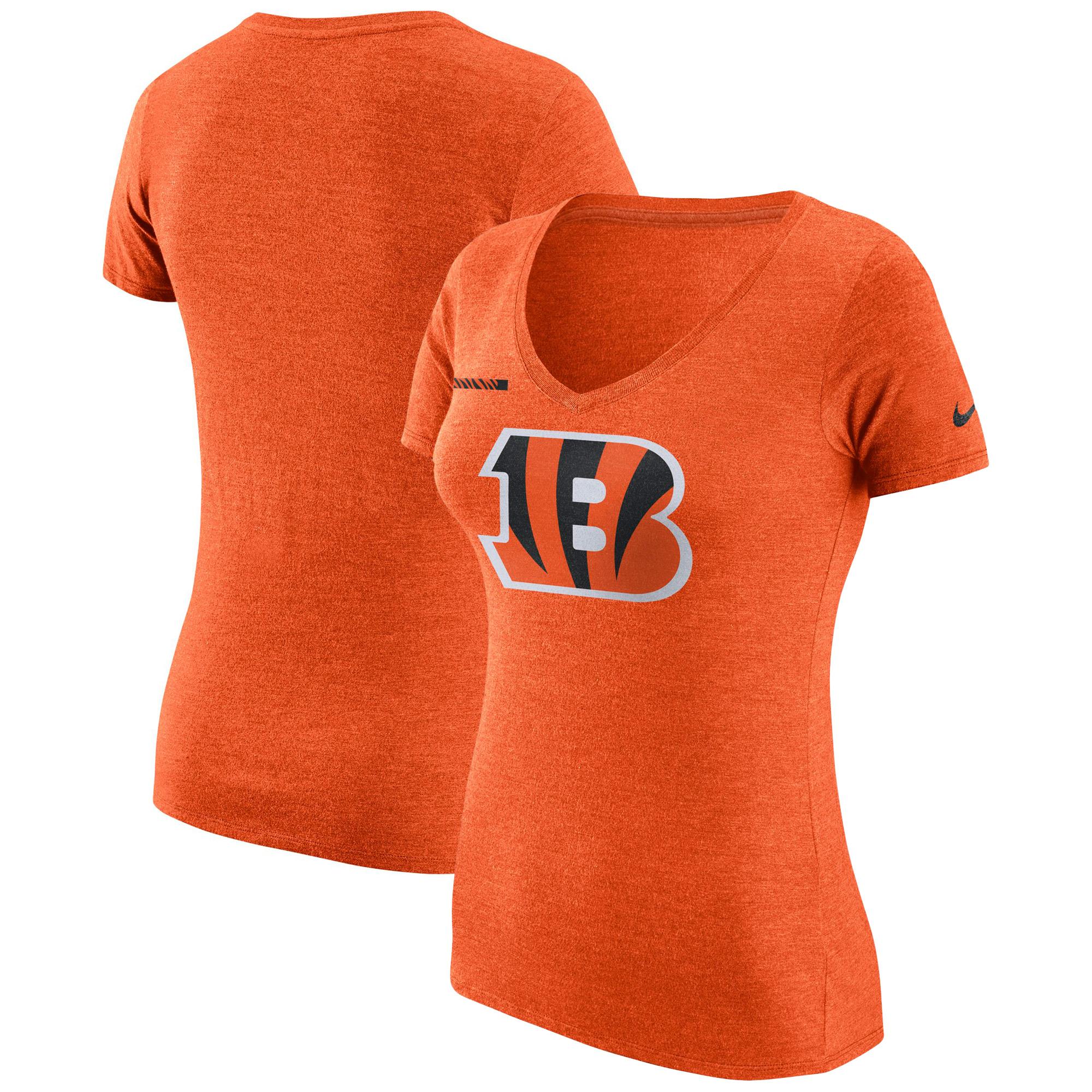 Cincinnati Bengals Nike Women's DNA Badge Tri-Blend T-Shirt - Orange