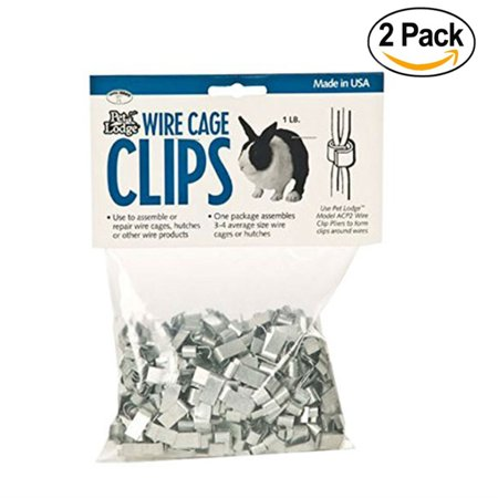 12 Pack Wire - Miller Manufacturing ACC1 Wire Cage Clips, 1-Pound Bag - 2 Pack