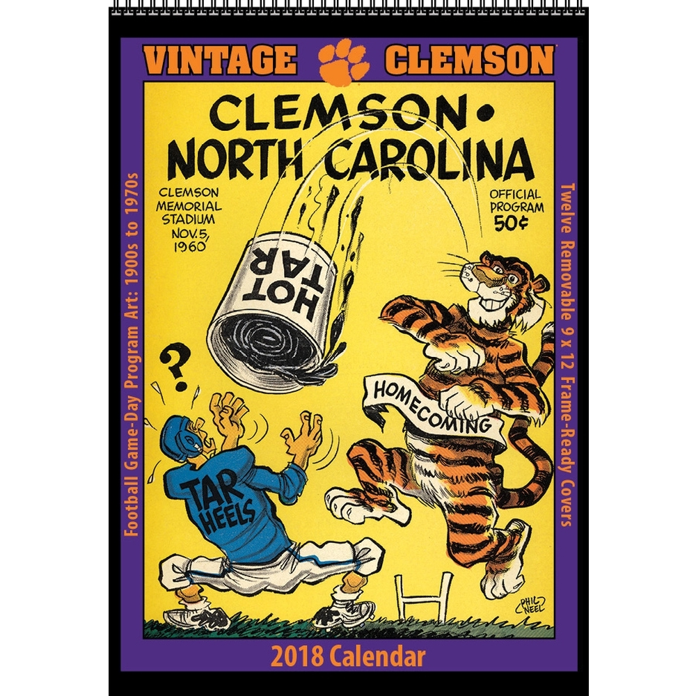 Clemson Vintage Football 2018 Wall Calendar, Clemson Tigers by ...