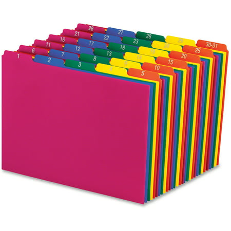 Pendaflex, PFX40143, Top Tab Poly File Guides, 31 / Set Poly File Guides