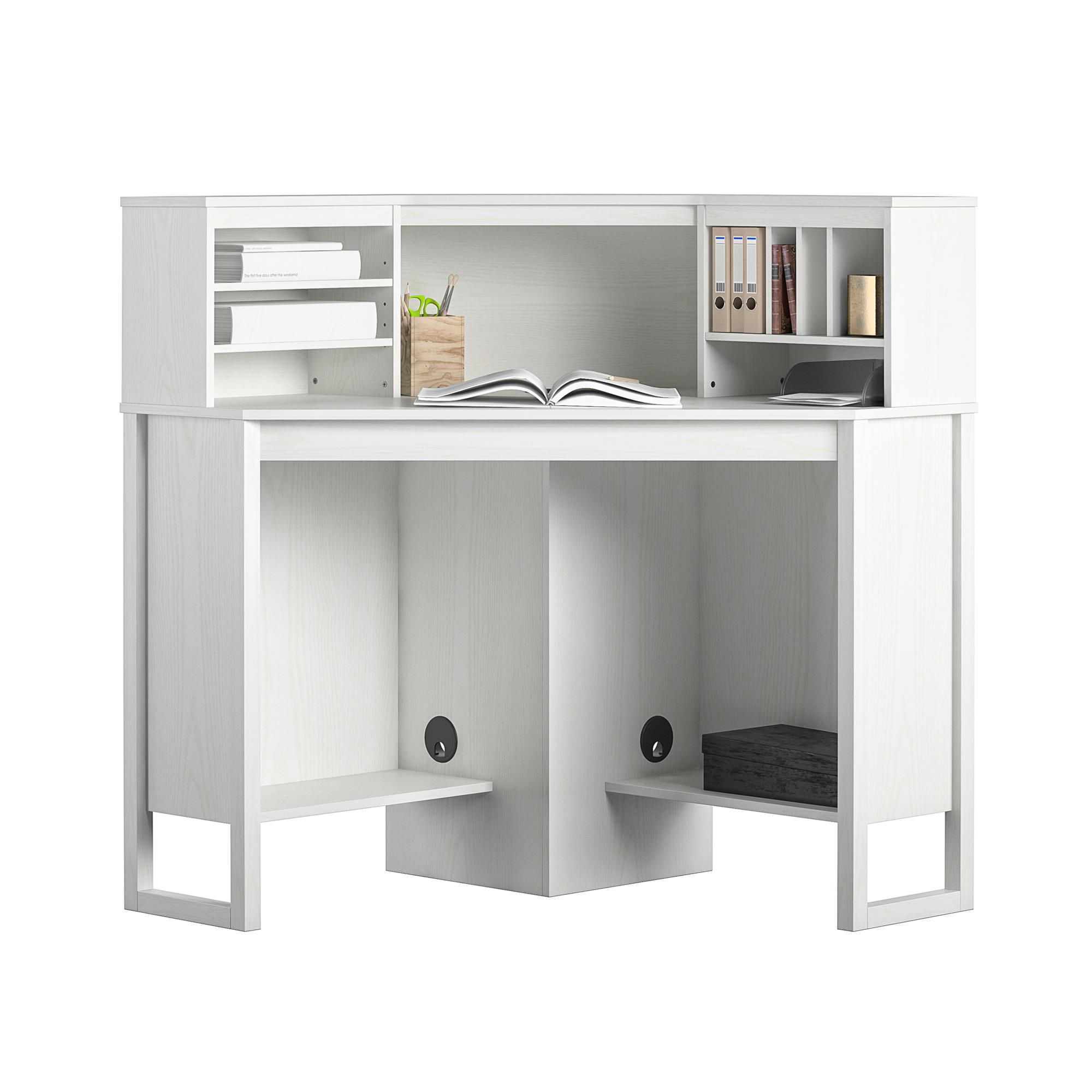 Image of: Mainstays Corner Desk With Hutch White Walmart Com Walmart Com