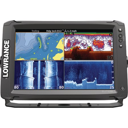 "Lowrance 000-13718-001 Elite-12Ti Touchscreen Fishfinder with CHIRP Sonar, GPS, SideScan Imaging, DownScan Imaging, TotalScan Transducer & 12"" Display"