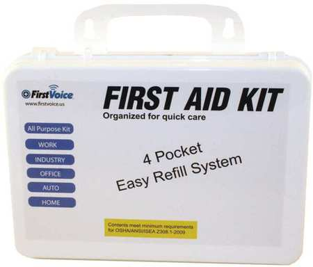 FIRST VOICE ANSI-10P First Aid Kit, 94 Components, 10 People by First Voice