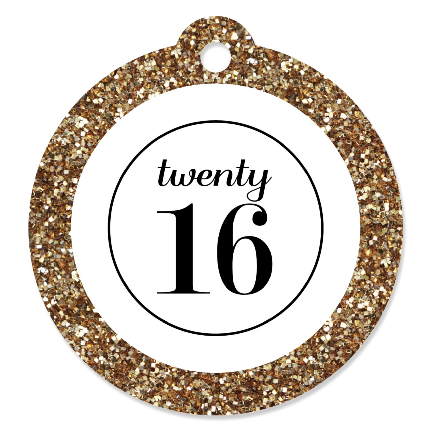 Tassel Worth The Hassle - Gold - Graduation Party Die-Cut Favor Tags (set of 20)
