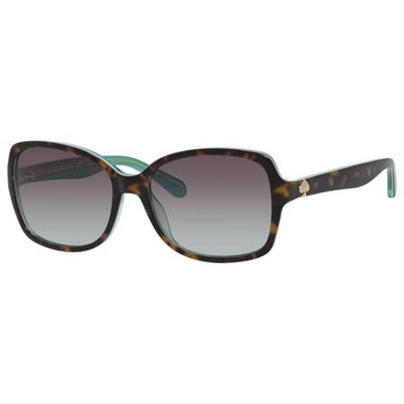 c637503838b3 Kate Spade New York - Kate Spade Women's Ayleens Rectangular Sunglasses, Havana  Green/Gray Gradient Aqua, 56 mm - Walmart.com