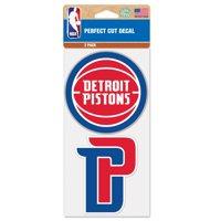 Detroit Pistons 2-Pack 4'' x 4'' Die-Cut Decals