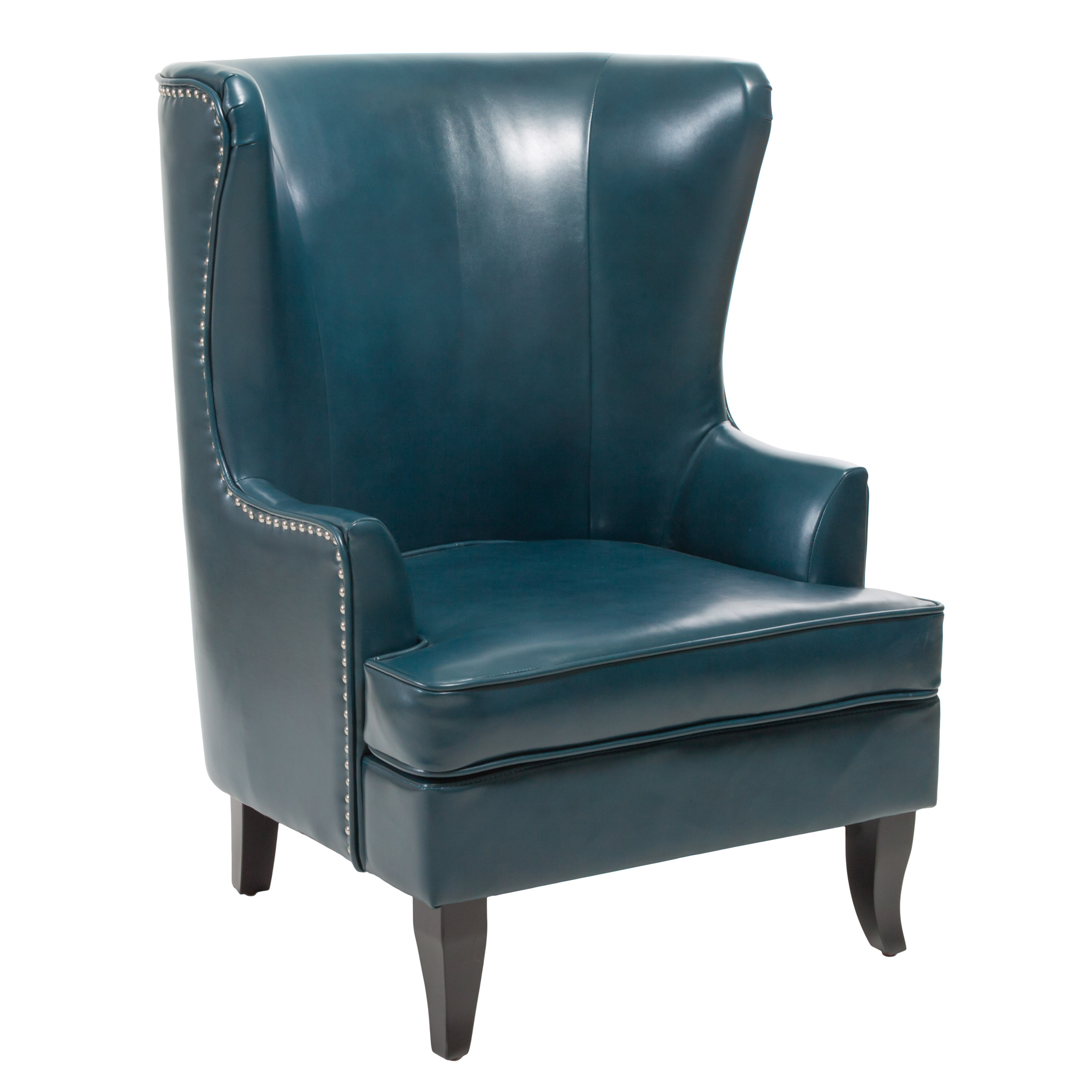 Hesby High Back Wing Chair, Teal