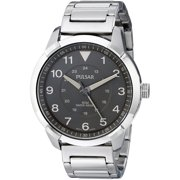 Pulsar Mens Stainless Steel Case and Bracelet Brown Dial Silver Watch - PG2025