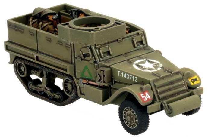 Miniatures Flames of War BBX29 WWII British M5 Half-Track Transport Platoon 4