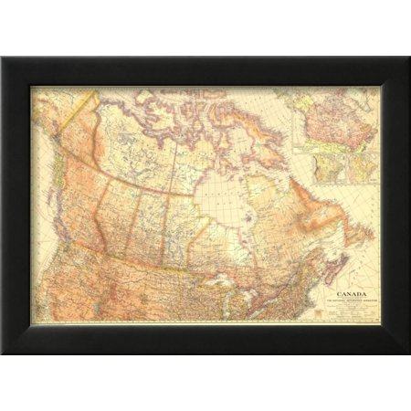 1936 Canada Framed Print Wall Art By National Geographic Maps ...