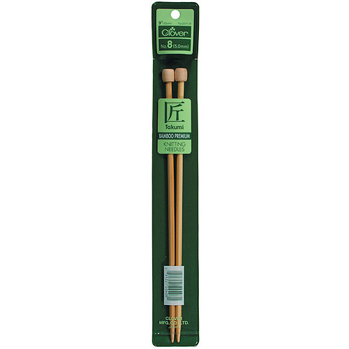 Clover Bamboo Single Point Knitting Needles