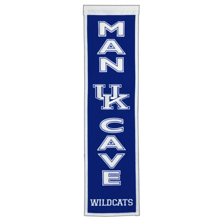 NCAA Man Cave Banner, University of Kentucky Wildcats Ncaa Kentucky Wildcats Team Glass