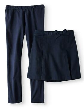Wonder Nation Girls School Uniform Skirt and Leggings, 2-Piece Value Set, Sizes 4-16