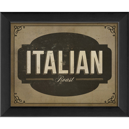 The Artwork Factory Italian Roast Framed Textual Art