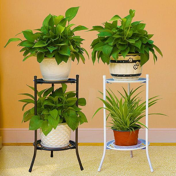 Metal Plant Pot Holder Stand Flower Display Shelf Garden Patio Indoor Outdoor