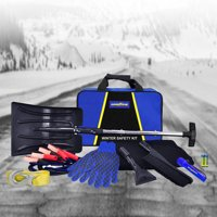 Goodyear Winter Safety Kit- 3 in 1 snow shovel, Booster cable, Tow strap