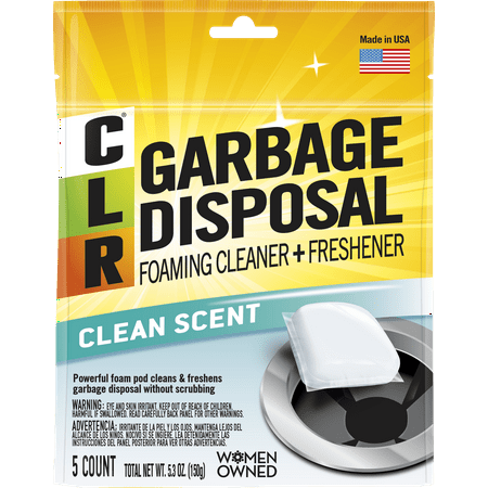 CLR Garbage Disposal Cleaner Pods, Clean Scent, 5 Count Pouch