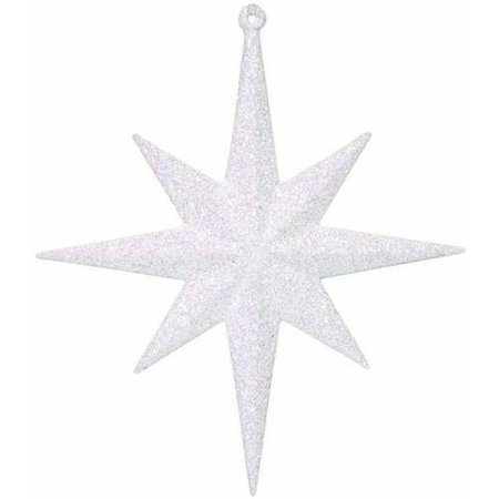 "Vickerman 8"" Glitter Bethlehem Star Christmas Ornaments, Pack of 4"