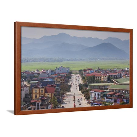 Vietnam, Dien Bien Phu. City View from the Victory Monument Framed Print Wall Art By Walter (Chapter 18 The Impossible Victory Vietnam Summary)