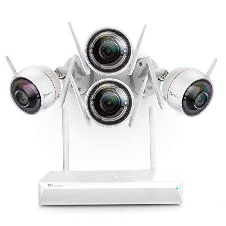 4 Channel Digital Video Recorder - EZVIZ Digital Video Recorder System BW-2424B1 4 channel Wireless Smart Home Security Kit 1080p Outdoor WiFi