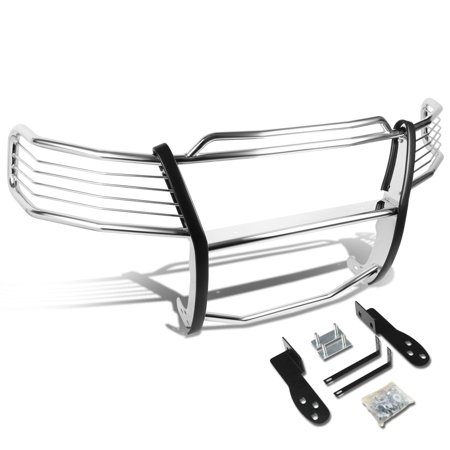 For 2003 to 2006 Ford Expedition U222 Front Bumper Protector Brush Grille Guard (Chrome) 04 05 (Expedition Chrome Accessories)