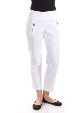 1fbe053f7a7 Product Image INC Womens White Zippered Curvy Fit Straight leg Pants Size  2